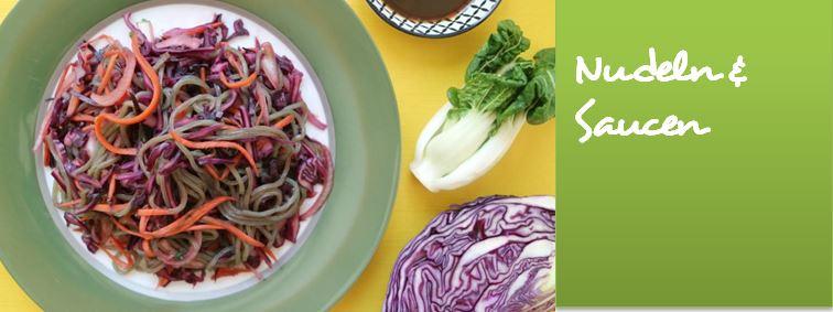 Vegane Nudel und Saucen Rezepte