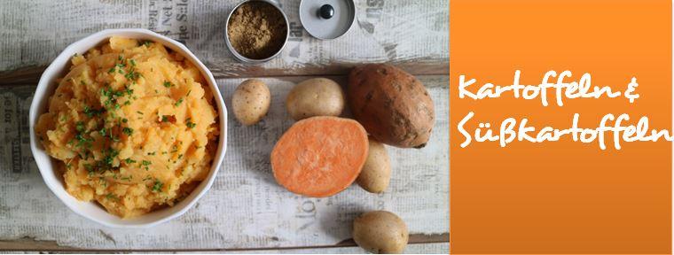 Vegane Kartoffel und Süßkartoffel Rezepte