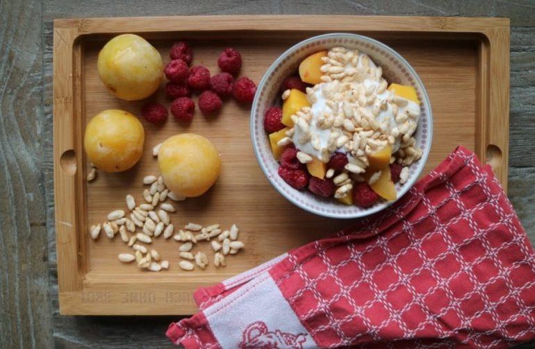 Rezept für Obstsalat mit Reis-Boons