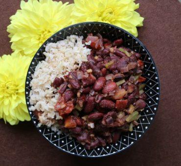 Kidneybohnen-Stew mit Vollkorn-Basmatireis