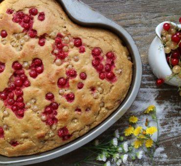 Veganer Kuchen mit Johannisbeeren