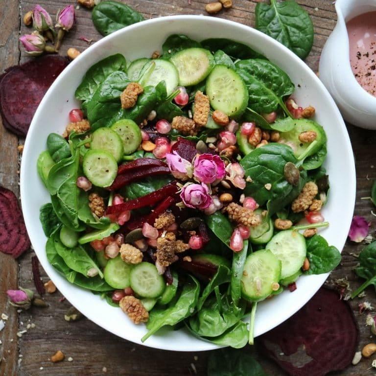 Spinatsalat mit Roter Beete