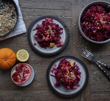 Winterlicher Rotkohlsalat
