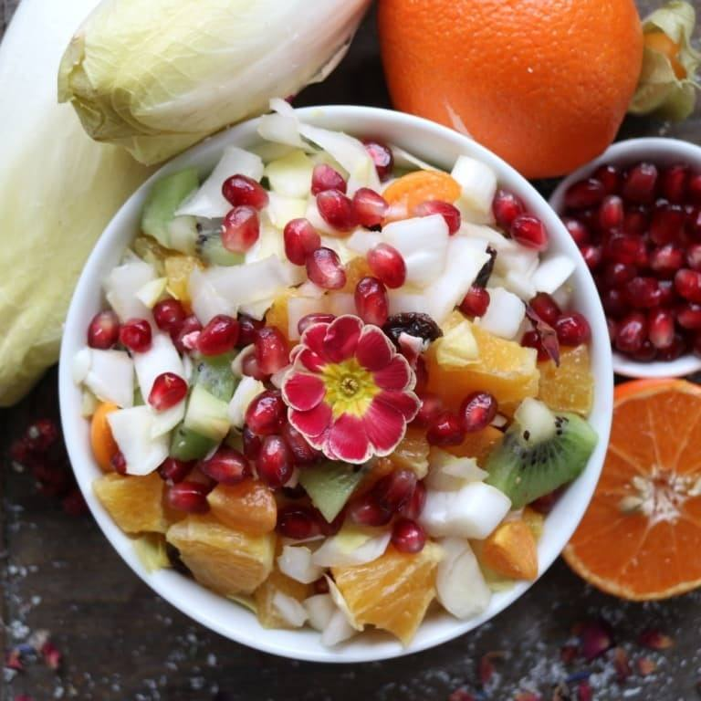 Rezept: Chicoree Salat mit Früchten